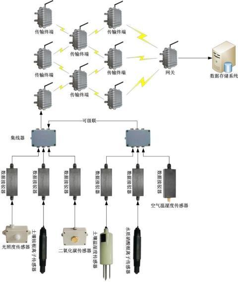 农业种植物联网环境信息采集系统结构示意图